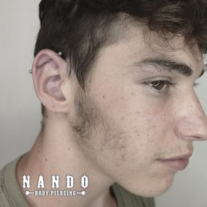 piercing Cuenca. Industrial Piercing. Titanio Piercing. by: Nando Body Piercing